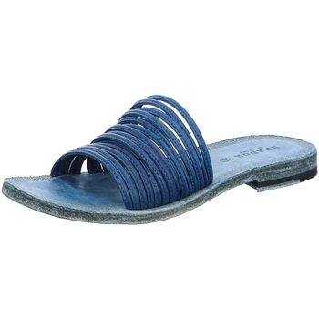 Schuhe Damen Pantoffel Brador Pantoletten D.Pantoletten 57663 blue blau