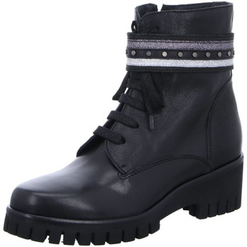 Schuhe Damen Low Boots Donna Carolina Stiefeletten D Boots kalt sw kombi 38.699.256-001 schwarz