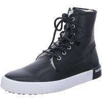 Schuhe Damen Sneaker High Blackstone Stiefeletten D.Boots warm QL41 Black schwarz