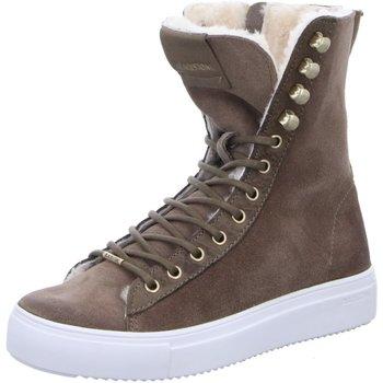 Schuhe Damen Boots Blackstone Stiefeletten D.Boots warm QL50 Moss braun