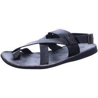 Schuhe Herren Sandalen / Sandaletten Brador Offene 46478 nero schwarz