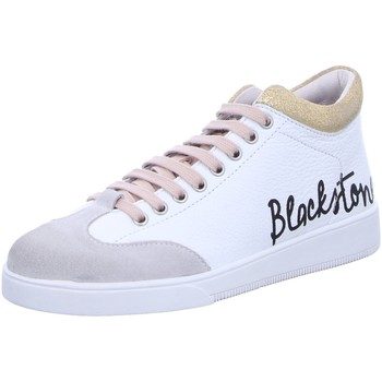 Schuhe Damen Sneaker Low Blackstone RL89 white-cameo-rose weiß