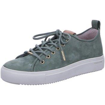 Schuhe Damen Sneaker Low Blackstone Schnuerschuhe D.Halbschuhe PL97 Battle türkis