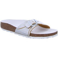 Schuhe Damen Pantoffel Birkenstock Pantoletten Madrid NU Metallic Cuts Lemon 1012960 gelb
