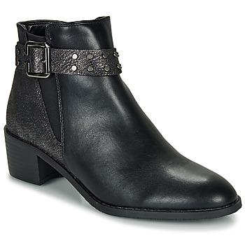 Schuhe Damen Boots Moony Mood FLOURETTE Schwarz