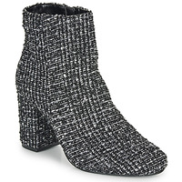 Schuhe Damen Low Boots Moony Mood FRIPON Schwarz / Weiss