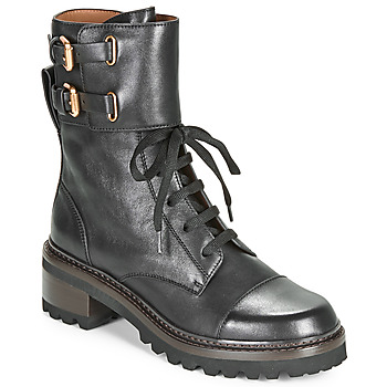 Schuhe Damen Low Boots See by Chloé MALLORY Schwarz