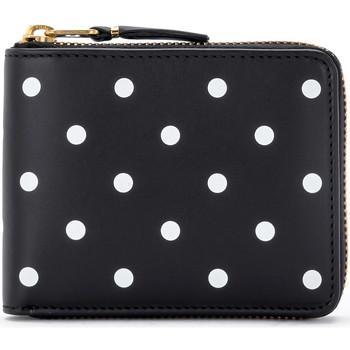 Taschen Damen Portemonnaie Comme Des Garcons Comme Des Garçons Portemonnaie Wallet in Leder mit Punkten Schwarz