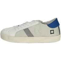 Schuhe Jungen Sneaker Low Date HILL LOW-T Weiss/ Hellblau
