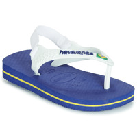 Schuhe Kinder Sandalen / Sandaletten Havaianas BABY BRASIL LOGO Marine
