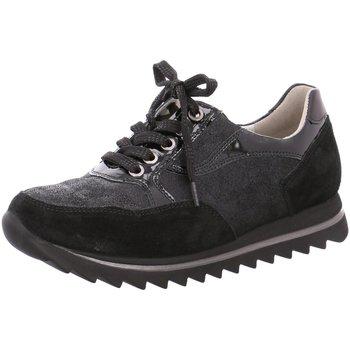 Schuhe Damen Sneaker Low Waldläufer Schnuerschuhe 923002/505 001 schwarz