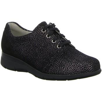 Schuhe Damen Sneaker Low Waldläufer Schnuerschuhe NV 386007 schwarz