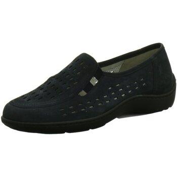 Schuhe Damen Slip on Waldläufer Slipper Henni 496501 191 217 blau