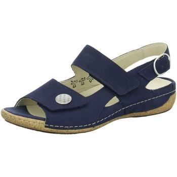 Schuhe Damen Sandalen / Sandaletten Waldläufer Sandaletten Komfort Sandalette Heliett 342002 191 217 blau