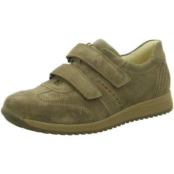 Schuhe Herren Sneaker Low Waldläufer Slipper 414303 414303-300-103 braun