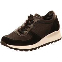 Schuhe Damen Sneaker Low Waldläufer Schnuerschuhe Hiroko-Soft, H64001-300-001-Hiroko schwarz