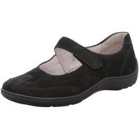 Schuhe Damen Slip on Waldläufer Slipper Henni -H- 496302.191.001 schwarz