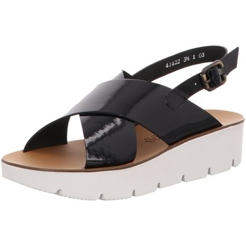 Schuhe Damen Sandalen / Sandaletten Paul Green Must-Haves blau 6989-032 schwarz