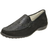 Schuhe Damen Slipper Waldläufer Slipper Kläre schwarz