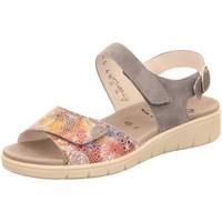 Schuhe Damen Sandalen / Sandaletten Semler Sandaletten FLOWER-SAMT/SAMT-CHEV.,SKY D4145886 blau