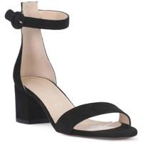 Schuhe Damen Sandalen / Sandaletten Priv Lab CAMOSCIO NERO Nero