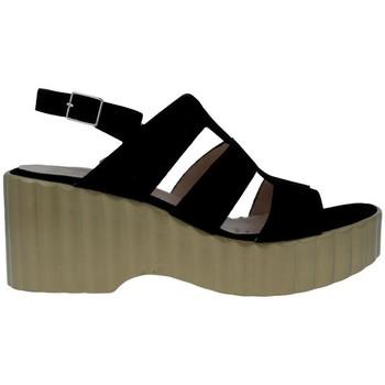 Schuhe Damen Sandalen / Sandaletten Wonders F-6705 Sandalias Con Plataforma de Mujer schwarz