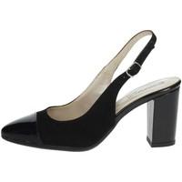 Schuhe Damen Pumps Romagnoli B9E1750 Schwarz