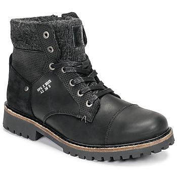 Schuhe Jungen Boots Bullboxer AHA518E6L-BLCK Schwarz