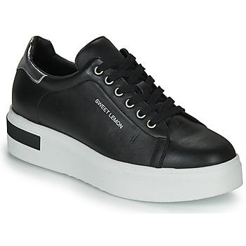 Schuhe Damen Sneaker Low Sweet Lemon BISTROT Schwarz