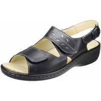 Schuhe Damen Sandalen / Sandaletten Portina Sandaletten -altsilber 10.305 schwarz