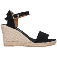 Schuhe Herren Leinen-Pantoletten mit gefloch Fernandez M-35  pique 7C Mujer Negro noir