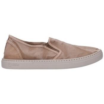 Schuhe Damen Slip on Natural World 6301E Mujer Beige beige