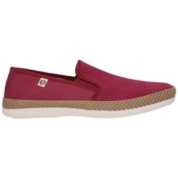 Schuhe Herren Leinen-Pantoletten mit gefloch Roal 550 Hombre Burdeos rouge