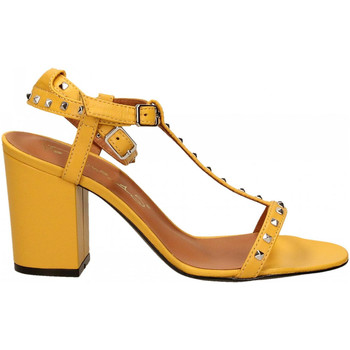 Schuhe Damen Sandalen / Sandaletten Via Roma 15 SANDALO CINTURINI PIRAMIDI giallo