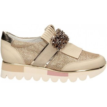Schuhe Damen Slip on Alfredo Giantin EMMA PONY beige
