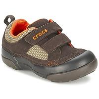 Schuhe Jungen Sneaker Low Crocs DAWSON HOOK & LOOP Braun