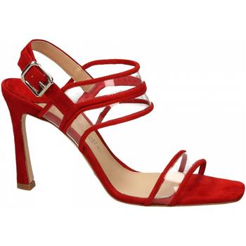 Schuhe Damen Sandalen / Sandaletten The Seller CAMOSCIO rosso