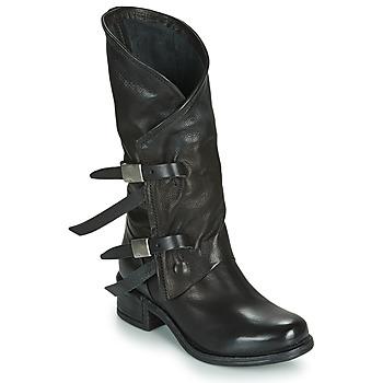 Schuhe Damen Klassische Stiefel Airstep / A.S.98 ISPERIA BUCKLE Schwarz