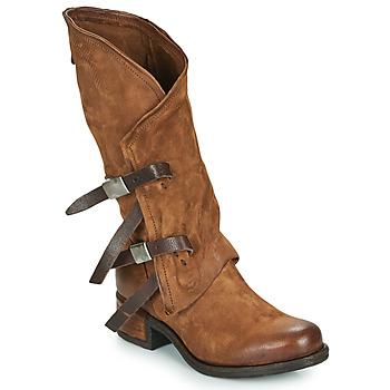 Schuhe Damen Klassische Stiefel Airstep / A.S.98 ISPERIA BUCKLE Braun