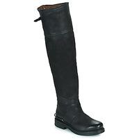 Schuhe Damen Klassische Stiefel Airstep / A.S.98 BRET HIGH Schwarz