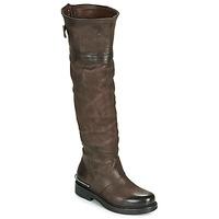 Schuhe Damen Klassische Stiefel Airstep / A.S.98 BRET HIGH Braun
