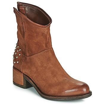 Schuhe Damen Boots Airstep / A.S.98 OPEA STUDS Camel