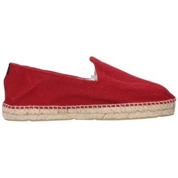 Schuhe Herren Leinen-Pantoletten mit gefloch Alpargatas Sesma 009 Hombre Burdeos rouge