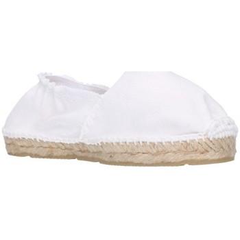 Schuhe Mädchen Leinen-Pantoletten mit gefloch Alpargatas Sesma 003 Niña Blanco blanc