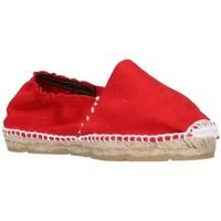 Schuhe Mädchen Leinen-Pantoletten mit gefloch Alpargatas Sesma 003 Niña Rojo rouge