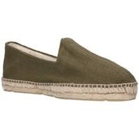 Schuhe Herren Leinen-Pantoletten mit gefloch Alpargatas Sesma 009 Hombre Kaki vert