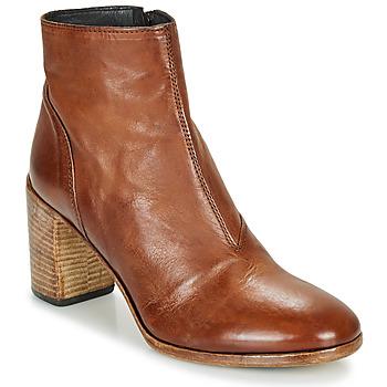 Schuhe Damen Low Boots Moma STELLA BRANDY Braun