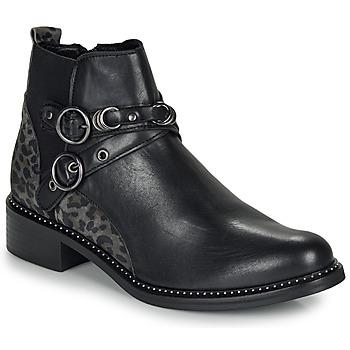 Schuhe Damen Boots Regard ROABIL V2 METALCRIS Schwarz