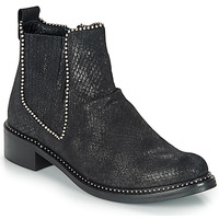 Schuhe Damen Boots Regard ROAL V1 CROSTE SERPENTE PRETO Schwarz