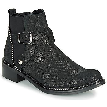 Schuhe Damen Boots Regard ROALA V1 CROSTE SERPENTE PRETO Schwarz